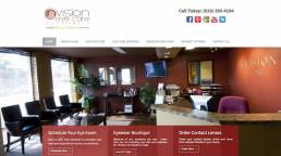 Invision Optometry Website Before Redesign